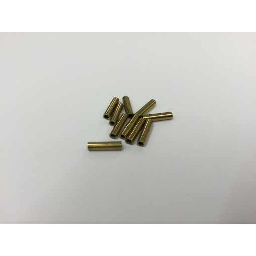Crimping Ferrule for 0.7mm Nylon trace wire - Brass 10 Pack