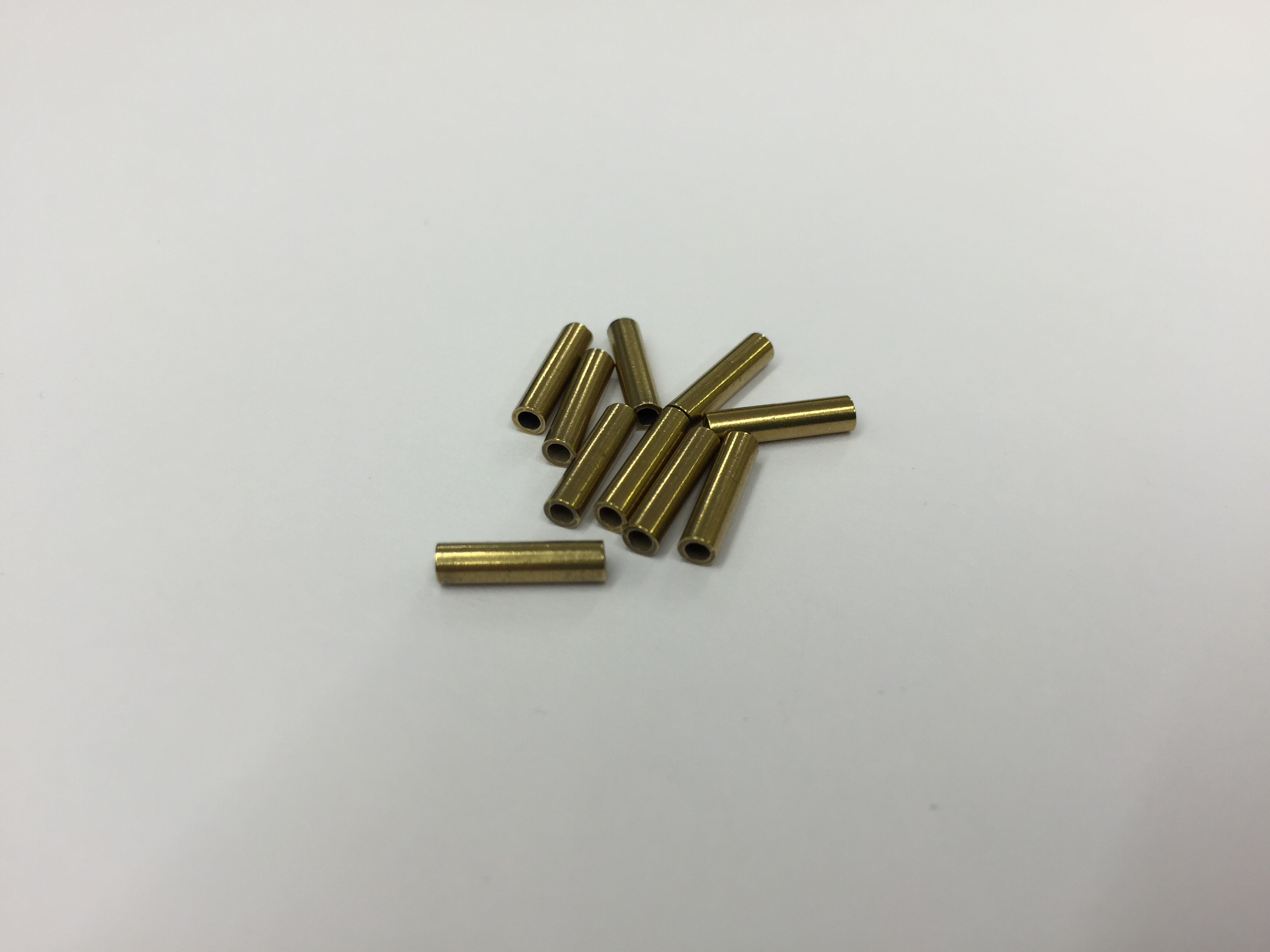 Crimping Ferrule for 0.7mm Nylon trace wire - Brass 10 Pack - Nexus ...