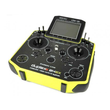 Jeti Duplex 2.4EX DS-16 Carbon Yellow Transmitter Multimode