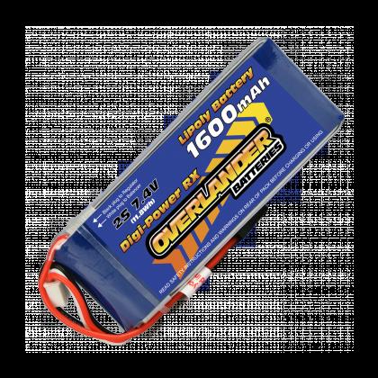 1600mAh 2S 7.4v LiPo Battery Receiver Pack - Overlander Digi-Power 1569
