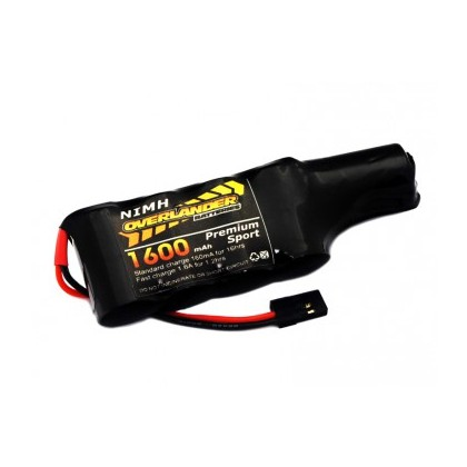 Overlander NiMH Battery Pack 2/3 AF 1600mah 6v Receiver Config Flat +1 Premium Sport 2752