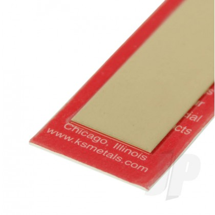 "K&S .025 x 2 Brass Strip 12"" (1 Pack) 239"