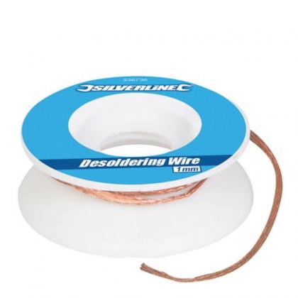 Silverline Desoldering Wire 1mm 336736