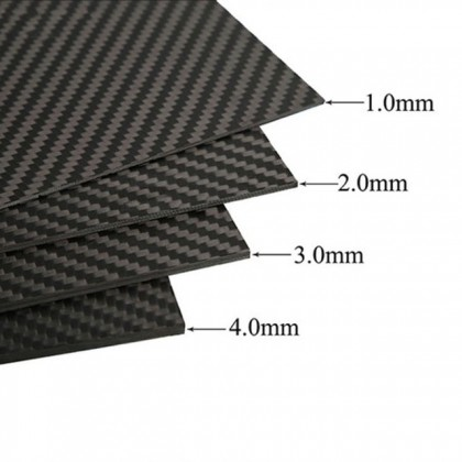 3mm High Quality Carbon Fibre Epoxy Sheet 295 x 146mm