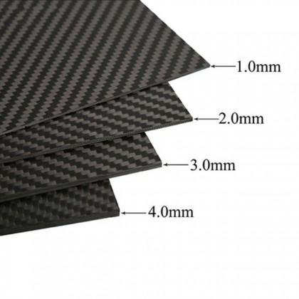 3mm High Quality Carbon Fibre Epoxy Sheet 295 x 146mm