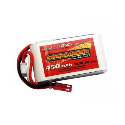 450mAh 3S 11.1v 45C LiPo Battery for Blade 180CFX & Others - Overlander Ultrasport