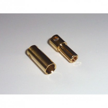 5.5mm Gold Bullet Connector Set - 2 Pairs