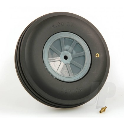 "4-1/2"" Dubro Large Treaded Inflatable Wheel DB450Tv"