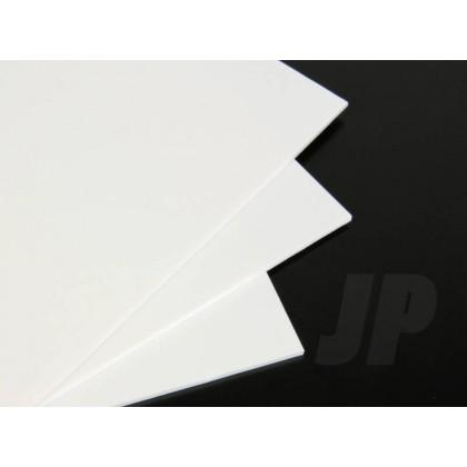 J Perkins 80Thou. White Plastic Sheet 2.0mm (9 x 12ins) 5521835