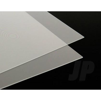 40Thou Clear Plastiglaze Acetate Plastic Sheet 1.0mm (9 x 12ins) 5521883