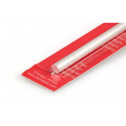 """K&S 1/4 Solid Aluminium Rod 12"""" (1 Pack) 83045"""