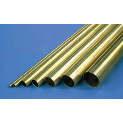 K&S 1/4 Round Brass Tube .014 Wall 36in 1149