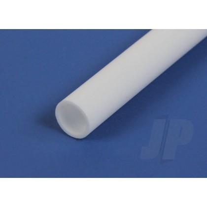 """Evergreen .312"""" Opaque White Styrene Round Tube (3 Pack) 230"""