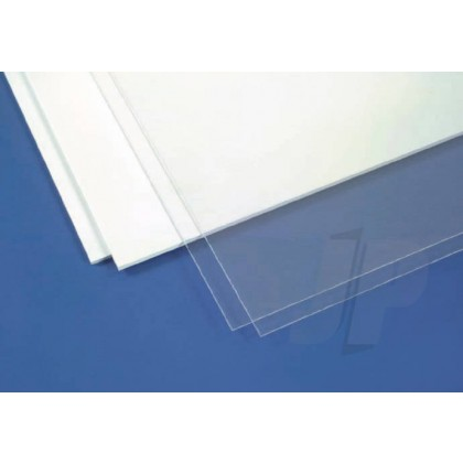 Evergreen Assortment Plain White Opaque Styrene Sheets (3 Pack) 9008