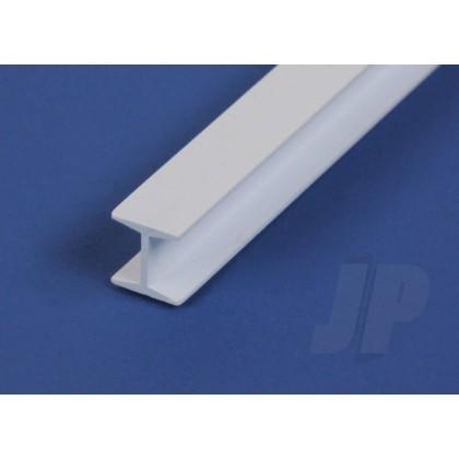 """Evergreen .080"""" Opaque White Styrene H Column (4 Pack) 282"""
