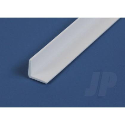 "Evergreen .250"" Opaque White Styrene Angle (2 Pack) 297"