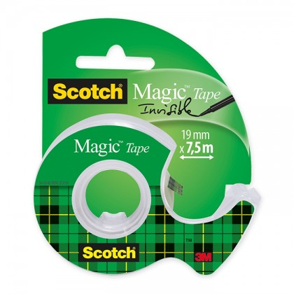 3M Scotch Invisible Magic Tape 19mm x 7.5m With Dispenser