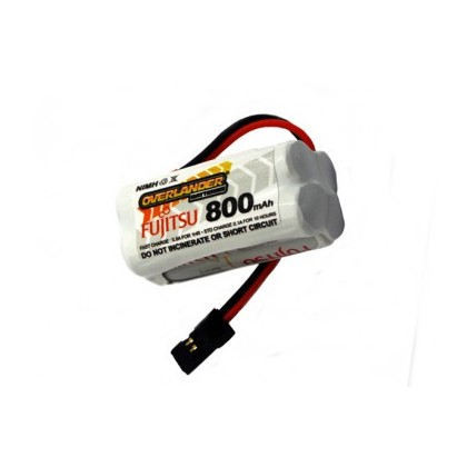Overlander Fujitsu White Rechargeable 800mAh AAA 4.8v Square RX Receiver Battery Pack 2915
