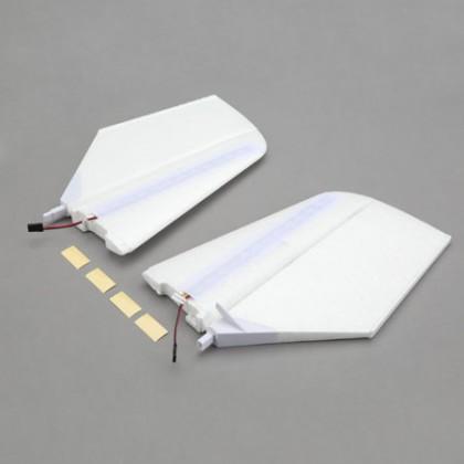 E-Flite Horizontal Tail w/LED's: NIGHT visionaire BNF Basic EFL7124