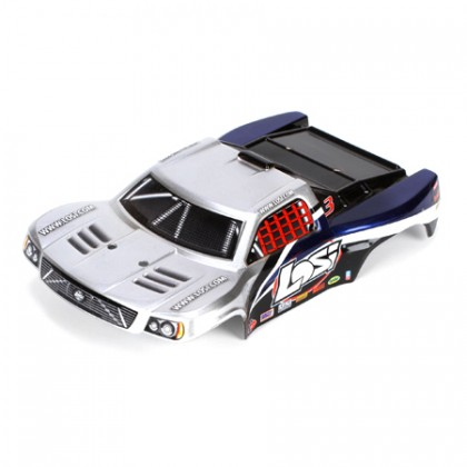 Losi 1/24 4WD SCT Silver and Blue Painted Body LOSB1792