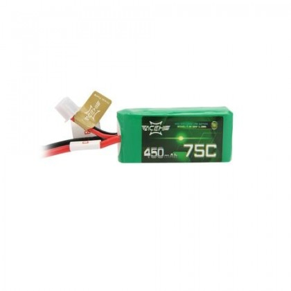 Acehe 2S 7.4v 75-150C 450mah - Racing Series Lipo Battery Ideal for indoor Flying. Fitted with a XT30