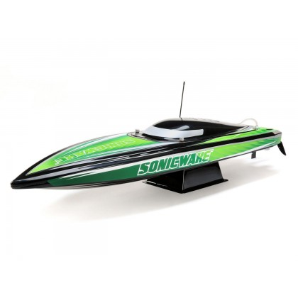 "Proboat Sonicwake 36"" Self-Righting Brushless Deep-V RTR Black PRB08032T2"