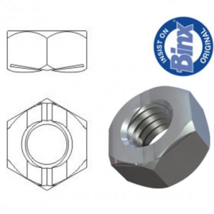 M6 Binx Aerotight Vibration Resistant All Metal Self Locking Nuts