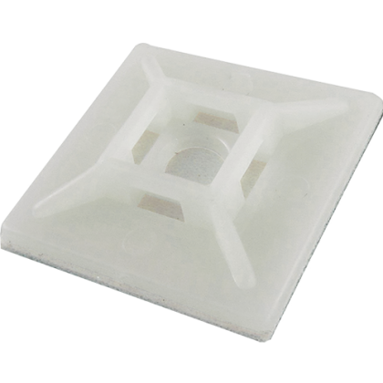 Cable Tie Adhesive Base White (10 Pack