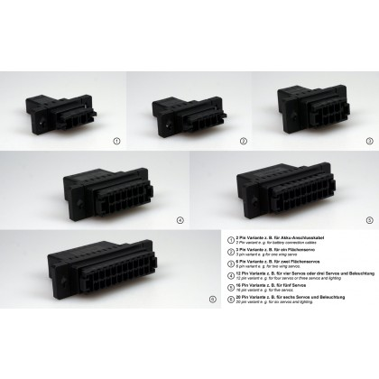 16 Pin Click Connect Multipin Connectors Ideal for Wing or Stab Wiring from IRC Emcotec A85250 / 2853