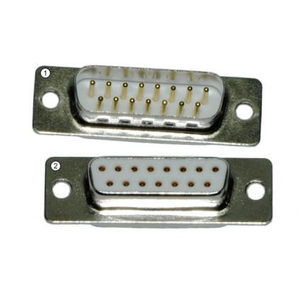 Emcotec D-Sub Connector 15pin, Plug & Socket A85071