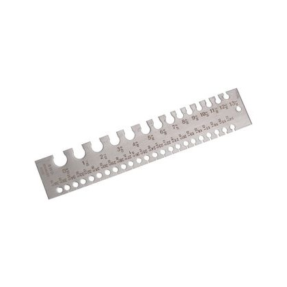 Wire Gauge, Stainless Steel, 37 Hole, 0 - 36 SWG - Etched D03118