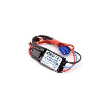 E-Flite 40amp Lite Pro Switch-Mode BEC Brushless ESC (V2) EFLA1040LB
