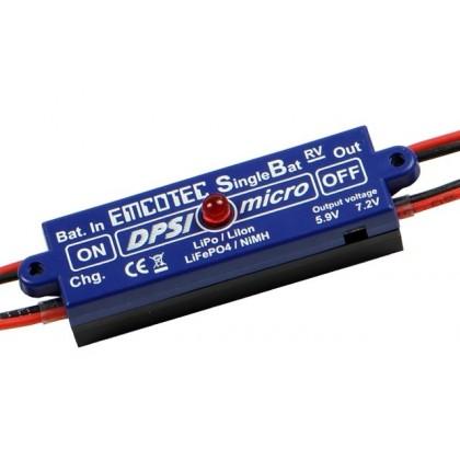 Emcotec DPSI Micro SingleBat 5.5V/57.2V JR - MPS (Magnetic Power Switch) A11062