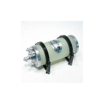 FCT Cylinder Type - 300ml (10.14oz) Air Trap UAT Bubble Trap Hopper With Large Fittings From Flight Composite Tech
