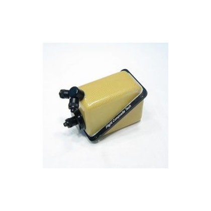 FCT V2 Square BVM Style Kevlar Composite Air Trap UAT Bubble Trap Hopper With Large Fittings From Flight Composite Tech