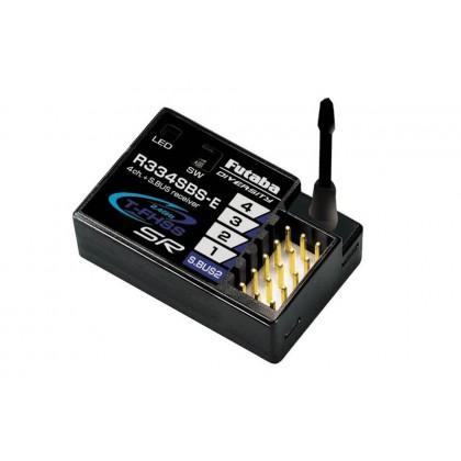 Futaba R334SBS-E 4-Channel T-FHSS SR Receiver - HV, 2.4GHz (P-R334SBS-E)