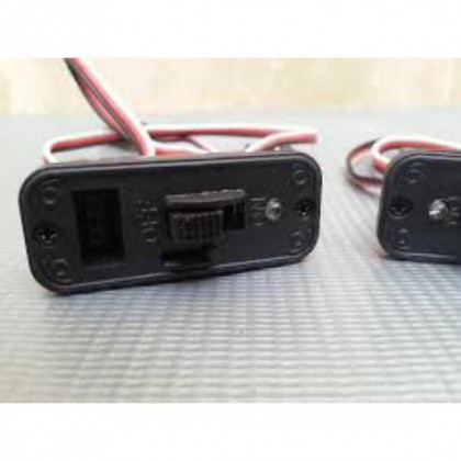 Futaba Switch Harness with Fuselage Charge Mount Plate & Ultra Bright LED LedFutSw