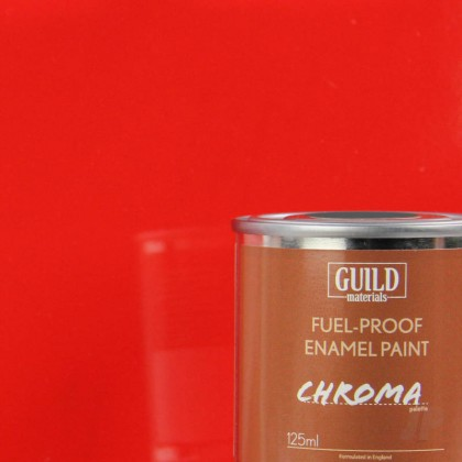 Guild Materials Gloss Enamel Fuel-Proof Paint Chroma Red (125ml Tin)