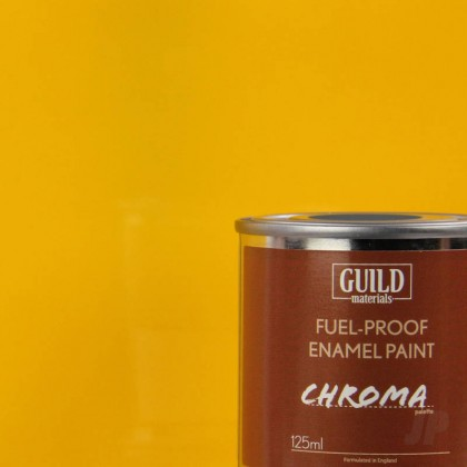 Guild Materials Gloss Enamel Fuel-Proof Paint Chroma Cub Yellow (125ml Tin)