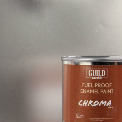 Guild Materials Gloss Enamel Fuel-Proof Paint Chroma Silver (125ml Tin)