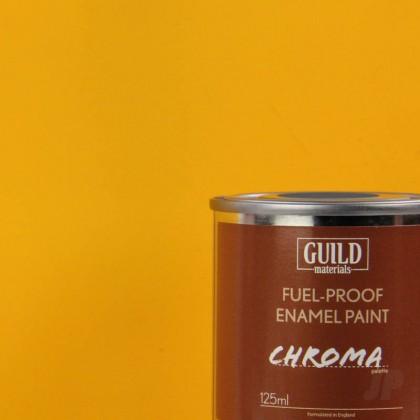 Guild Materials Matt Enamel Fuel-Proof Paint Chroma Cub Yellow (125ml Tin)