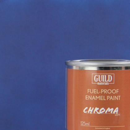 Guild Materials Matt Enamel Fuel-Proof Paint Chroma Dark Blue (125ml Tin)