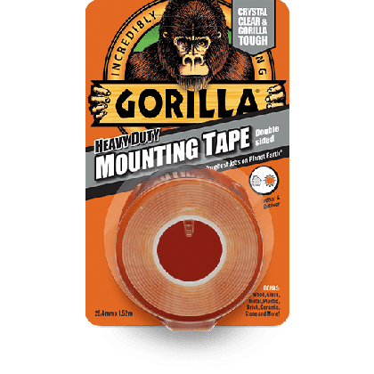 Gorilla Mounting Tape 1.5m Clear