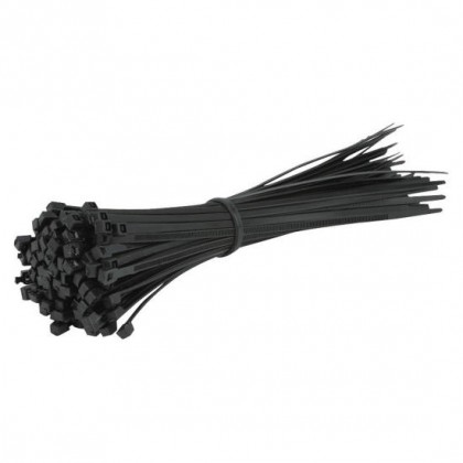 Cable Ties - 2.5 x 200mm - Black - Pack Of 100