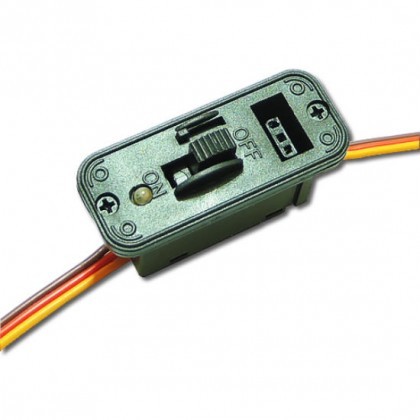 JR Switch Harness with Fuselage Charge Mount Plate & Ultra Bright LED LedJrSw