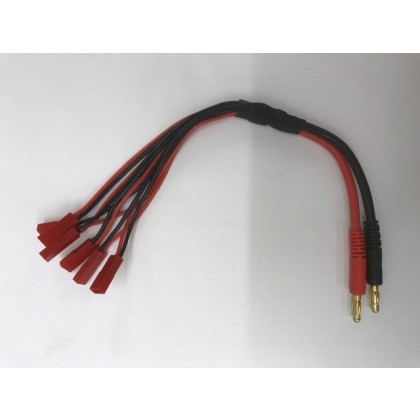 Parallel (x6) JST Red 2 Wire Parallel Charge Lead