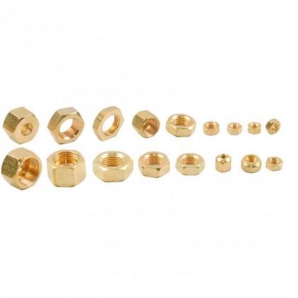 M4 Plain Brass Nuts PBNm4