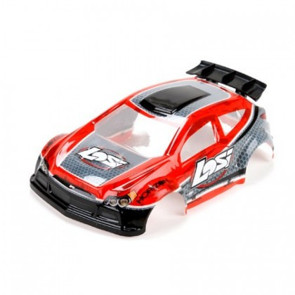 Losi 1/24 4WD Micro Rally X Painted Body Red LOS200001