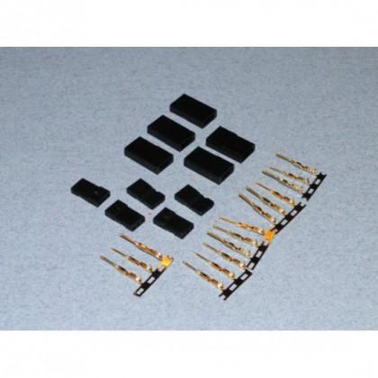 Futaba Servo Socket Set (Gold Pins) 5 pcs  O-FS-FUTF/05