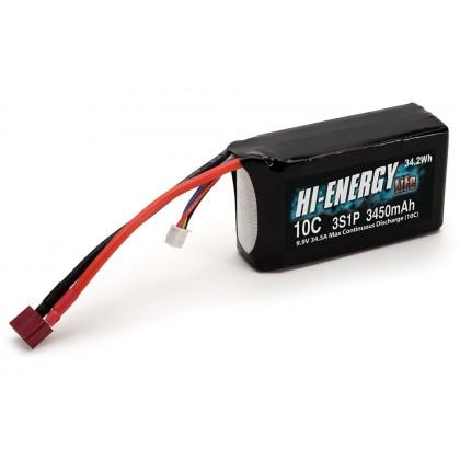 Hi-Energy 3S1P 3450mAh 10C Li-Fe Battery O-HE3SFE345010A